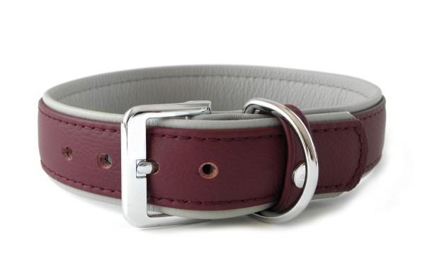 Halsband Merlot-Grey